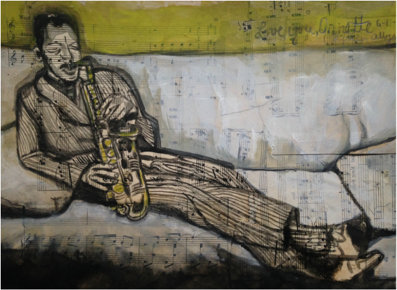 ornette coleman tribute painting watercolor